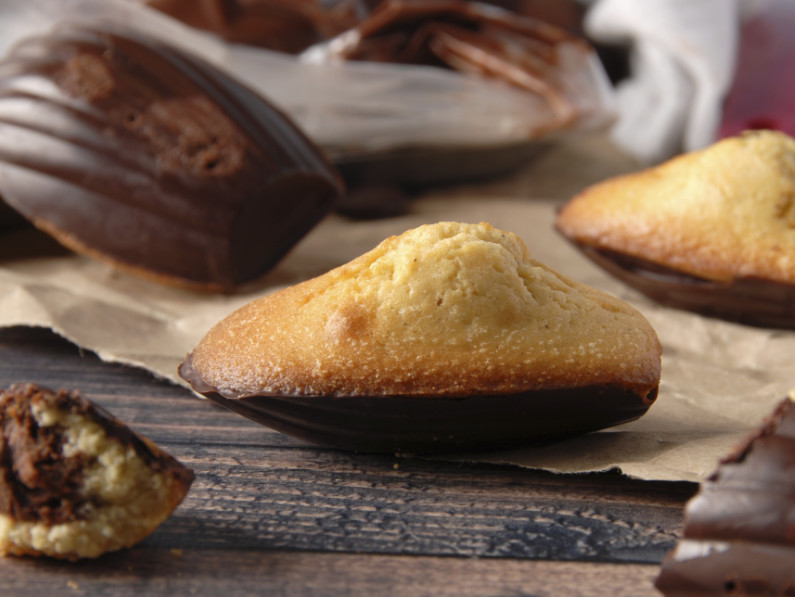 Madeleines fourrées au chocolat
